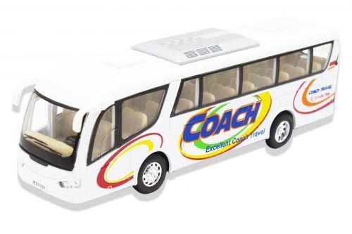 """Инерционный автобус """"Coach"""" (белый) KS7101W"""