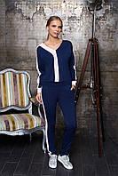 Женский костюм Woman Fashion А-59 темно синий (р 44-54)