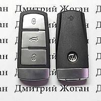 Смарт ключ для VOLKSWAGEN 3 - кнопки, с чипом id 46 микросхема 434 Mhz