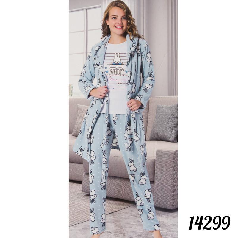 """Красивая пижама женская Soft """"Rabbit"""" Fancy Турция 14299"""