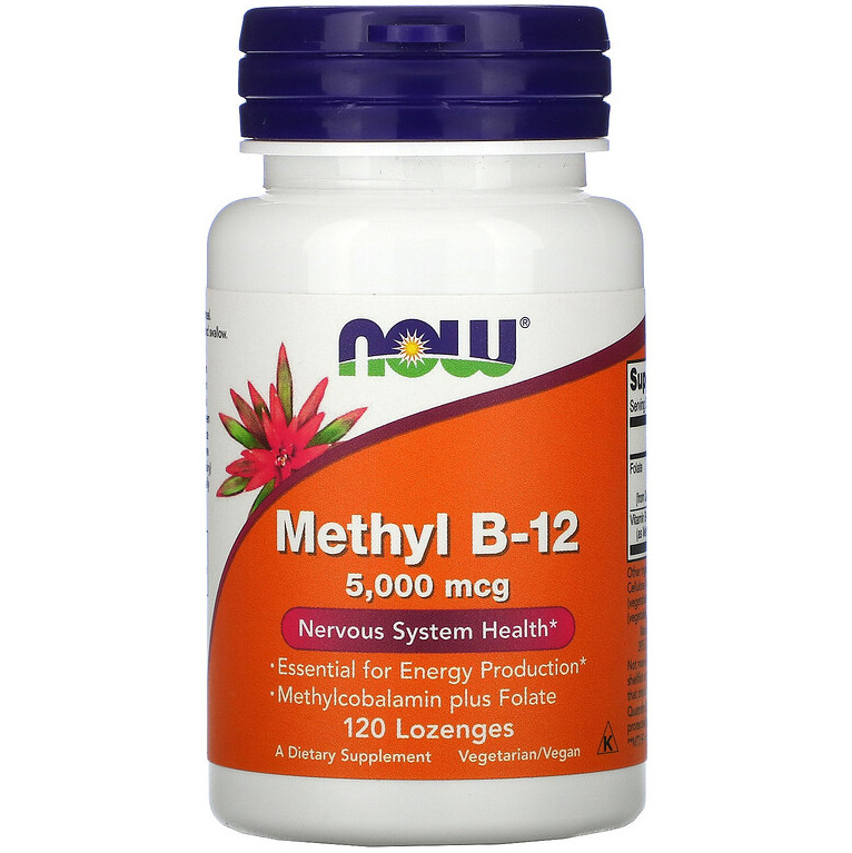 "Витамин В12 NOW Foods ""Methyl B-12"" 5000 мкг (120 леденцов)"