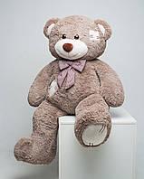 Большой плюшевый мишка Мистер Медведь с латками 150 см капучино мягкая игрушка на день рождения