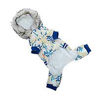 Комбинезон с капюшоном для собак Hoopet HY-Y2256 Blue XL теплый зимний, фото 2