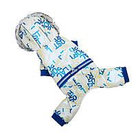Комбинезон с капюшоном для собак Hoopet HY-Y2256 Blue XL теплый зимний, фото 3