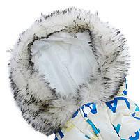 Комбинезон с капюшоном для собак Hoopet HY-Y2256 Blue XL теплый зимний, фото 4