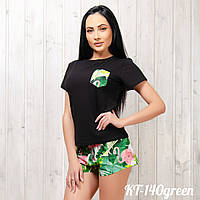 Комплект женский: футболка и шорты New Fashion KT-140green   1 шт, фото 1