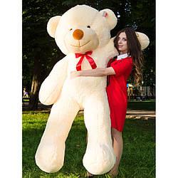 Плюшевые медведи: Плюшевый медвежонок Рафаэль 2 метра (200 см), Персиковый