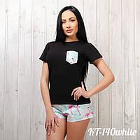 Комплект женский: футболка и шортики New Fashion KT-140white | 1 шт