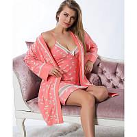 Комплект женский халат и пенюар Elitol (Турция) 11143 | 1 шт.