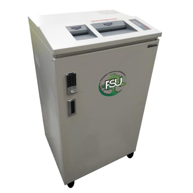 Дробилка для измельчения бумаги, картонных папок, файлов, пластиковых карт, CD-дисков типа FSU