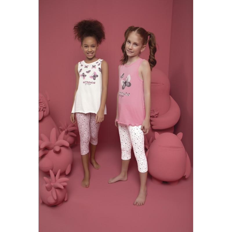 Комплект пижамный для девочек: майка и лосины Donella Kids (Турция) 4/5-10065   1 шт.