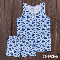 Комплект детский для мальчика: майка и трусы-боксеры Hunex (Турция) CO4420-5 | 3 шт.