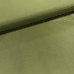Хлопковая ткань однотонная оливка