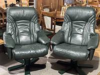 Мягкое кожаное офисное кресло из Германии