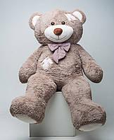 Большой плюшевый мишка Мистер Медведь с латками 200 см капучино мягкая игрушка на день рождения