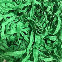 Наполнитель для подарков из гофробумаги  25г  4мм Зеленый