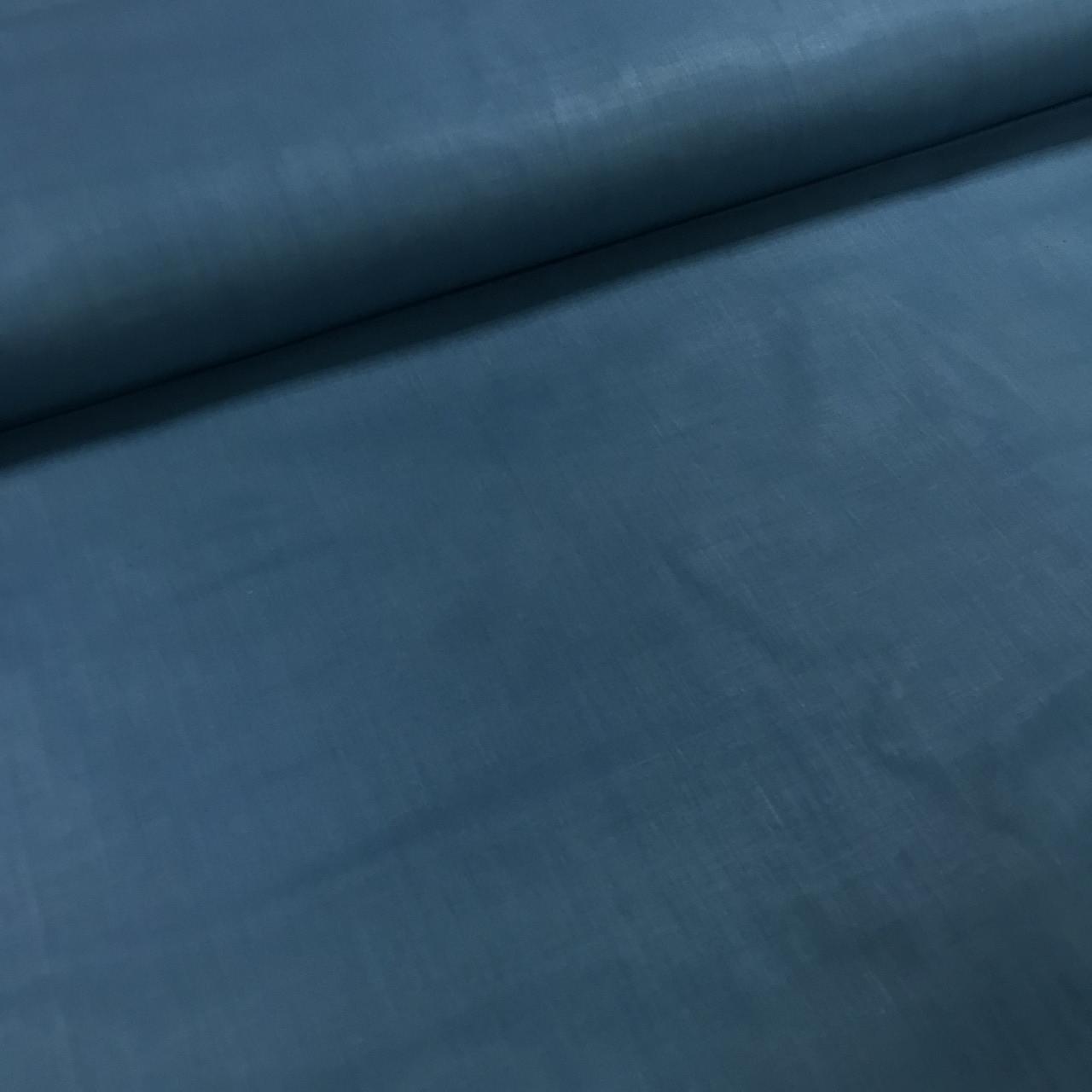 Хлопковая ткань однотонная темный аквамарин