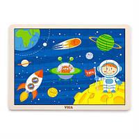 Деревянный пазл Viga Toys В космосе, 24 эл. (51461), фото 1
