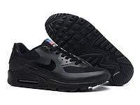 Кроссовки женские  Nike Air Max 90 Hyperfuse (в стиле найк аир макс) черные