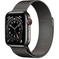 Apple Watch Series 6 GPS + Cellular 44mm Graphite Stainless Steel Case w. Graphite Milanese L. (M07R3)