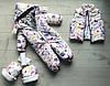 Муфты(рукавицы) для коляски ФИОЛЕТОВЫЕ ЛИСИЧКИ, фото 2