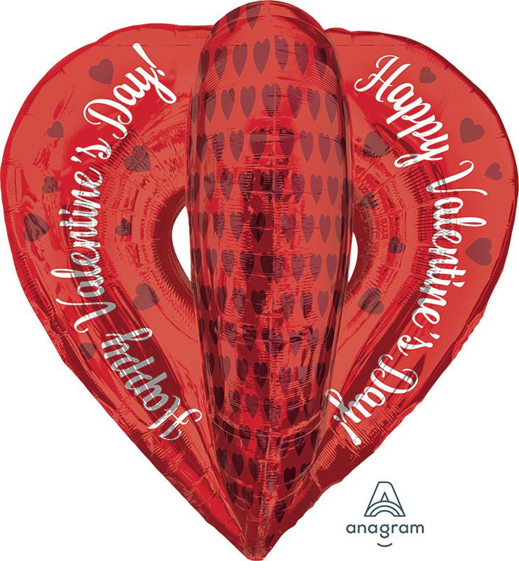 """А 30"""" Open Heart Balloon.  Фольгированный шар Открытое сердце С Днем святого Валентина"""