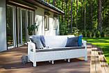 Тримісна софа зі штучного ротангу CORFU LOVE SEAT MAX білий (Allibert), фото 9