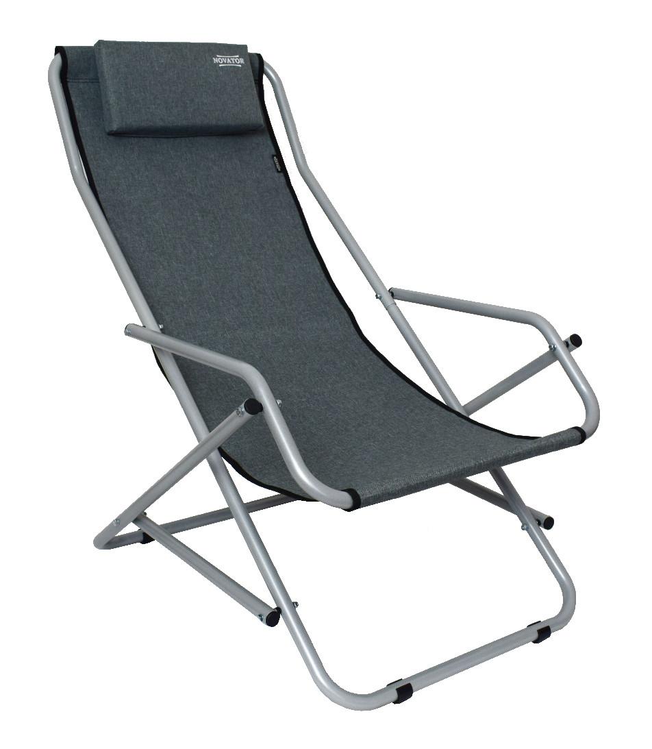 Кресло-шезлонг Novator SH-7 Grey