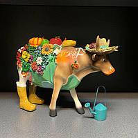 Статуэтка Корова с урожаем большая 919-361