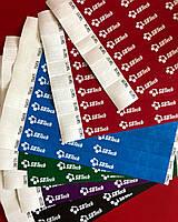 Браслеты контрольные с шелкотрафаретной печатью для наших клиентов