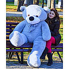 Плюшевые медведи: Плюшевый медвежонок Нестор 2 метра (200 см), Серый, фото 2
