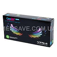 Перчатки нитриловые черные размер S - Care365 Premium смотровые одноразовые медицинские неопудреные