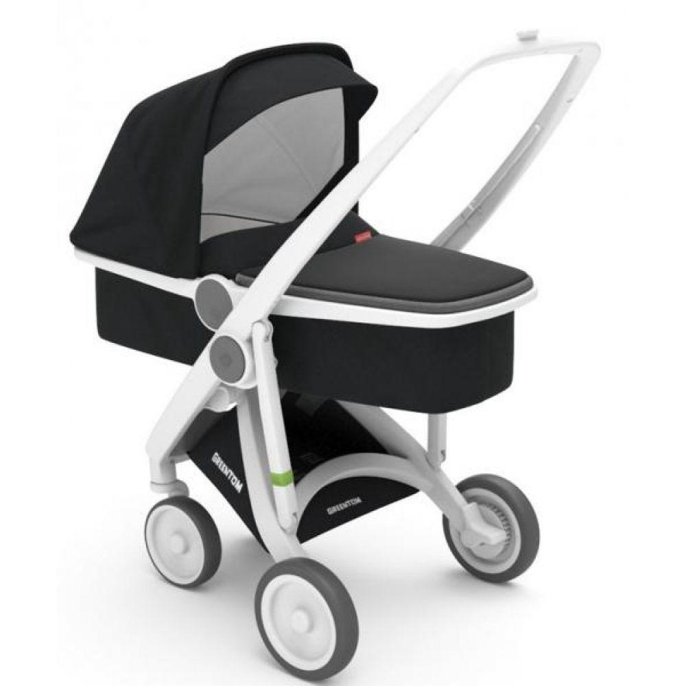 Коляска Greentom Upp Carrycot ABC White\Black
