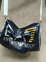 Дорожная сумка синяя  ARMANI