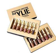 Набор жидких матовых помад Кайли Дженнер Kylie Jenner Birthday Edition 6 оттенков, помада губная, губная