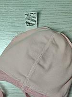 Шапочка для дівчинки демісезонна на завязці з заворотом кружевна Розмір 36-38 см Вік на новонародженних, фото 8