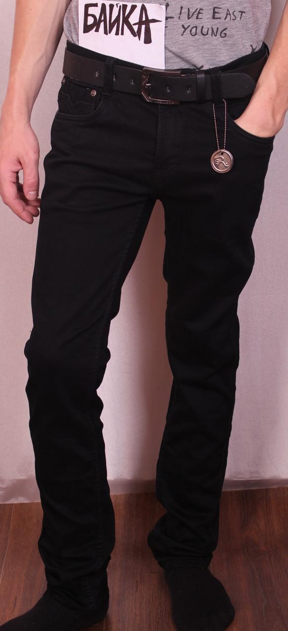 Мужские утепленные черные джинсы Resalsa на Флисе