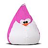 Кресло-груша Пингвин Розовый Детская 60х90