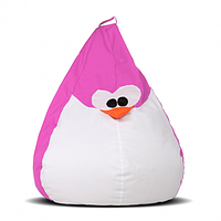 Кресло-груша Пингвин Розовый Детская 60х90, фото 1