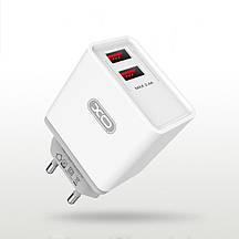 Сетевое зарядное устройство XO L31 2 USB 2.4 A White