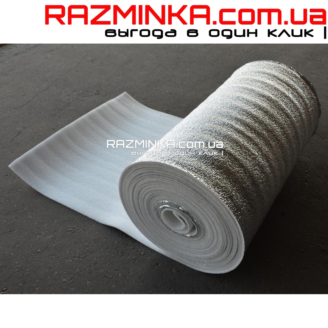 Фольгированный пенополиэтилен 5мм, рулон 50м²