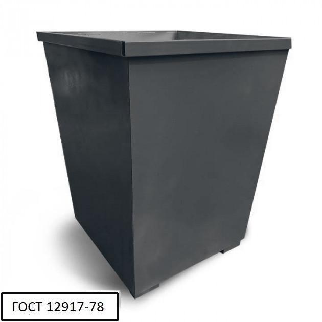 Бак металевий V-750 л,чорний