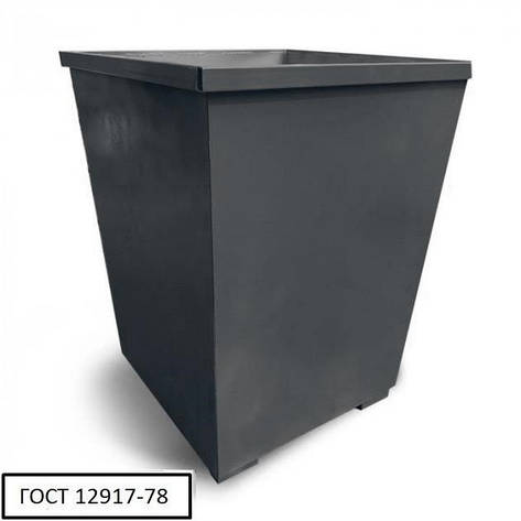 Бак металевий V-750 л,чорний, фото 2