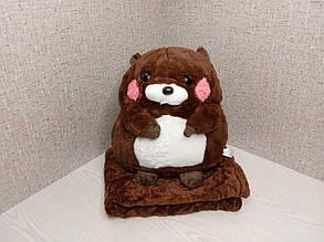 Плед - м'яка іграшка 3 в 1 (Бобер коричневий)