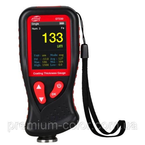 Толщиномер ЛКП HD-дисплей Fe/nFe, 0-1300мкм BENETECH GT230