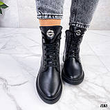 Женские ботинки ДЕМИ черные натуральная кожа весна - осень, фото 4