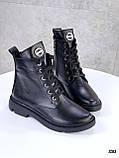 Женские ботинки ДЕМИ черные натуральная кожа весна - осень, фото 2