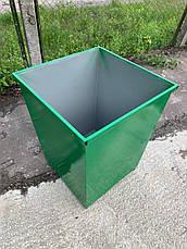 Бак металевий для ТПВ, з кришкою  V-750 л, фото 3