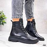 Женские ботинки ДЕМИ черные натуральная кожа весна - осень, фото 3