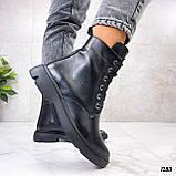 Женские ботинки ДЕМИ черные натуральная кожа весна - осень, фото 5